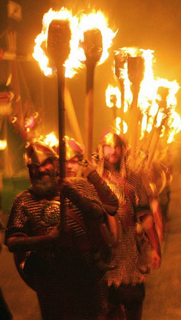 Up-Helly-Aa: a series of festivals held on the Shetland Isles to mark the end of the yule season