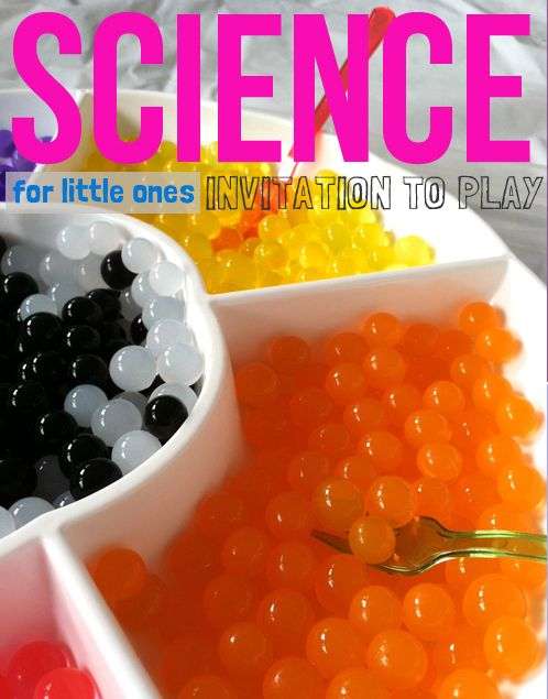 science activities for toddlers - water beads