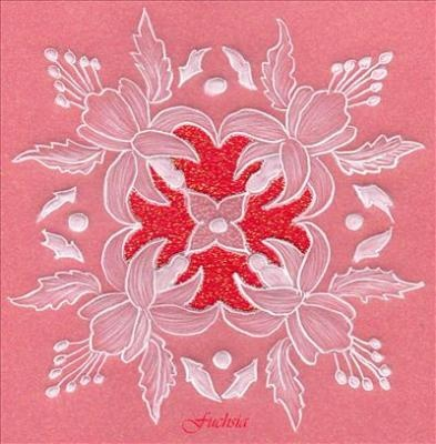Fuchsia Parchment Birthday Card