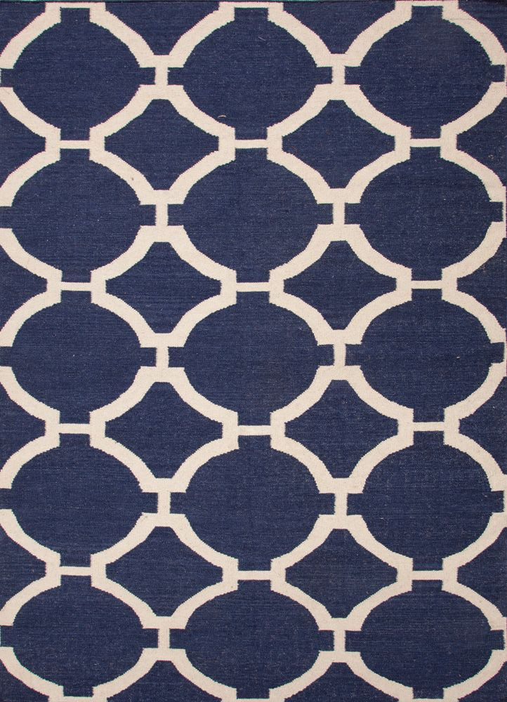 Charmant Maroc Flat Weave Rug / Rafi Deep Navy U0026 Antique White: Beach Decor, Coastal