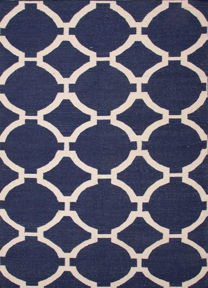 Maroc Flat Weave Rug / Rafi Blue & Turtledove