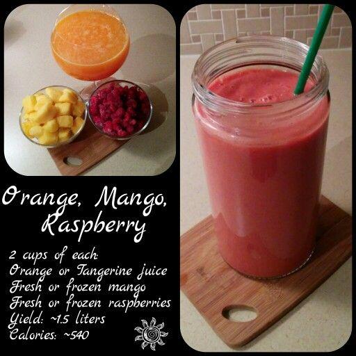 Orange, Mango, Raspberry