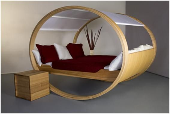 PRIVATE CLOUD ROCKING BED  The Private Cloud is a patented rocking bed by German designer Manuel Kloker. They don't tell the price, but it is real.