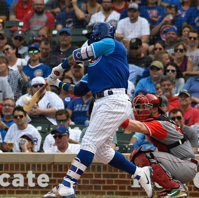 Javier Baez Chicago Cubs Vs Cincinnati Reds 8 25 2018 With Images Cubs Players Chicago Cubs Cincinnati Reds