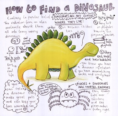 How to Find a Dinosaur by Helen Doodle