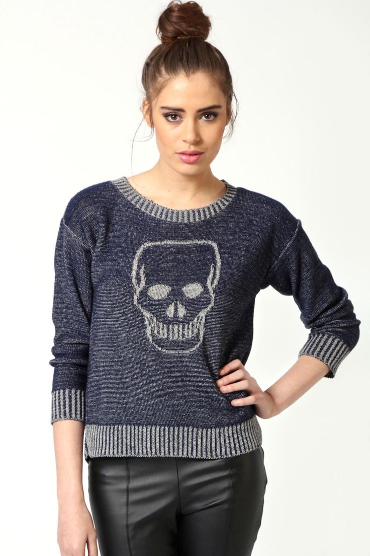 Jody Skull Print Jumper: Skulls, Knitwear, Skull Print, Style, Jody Skull, Jumpers, I Ll, Apparel