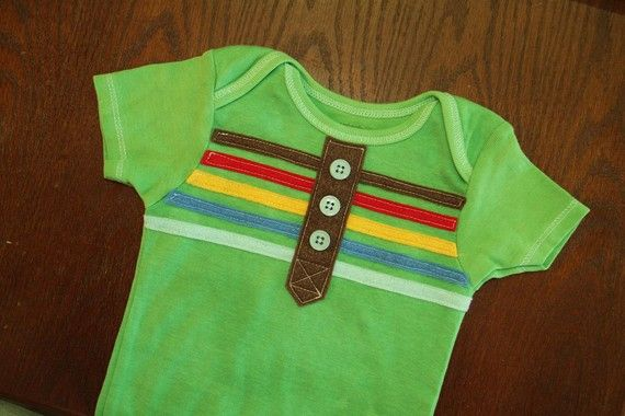I could make that- stitch felt stripes and button row for a faux henleyOnesies Baby, Crafts Ideas, Stripes Hands, Onesies Diy, Hands Dyed, Dyed Henley, Boys Stripes, Baby Crafts, Bb Ideas