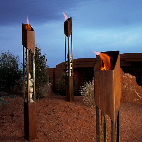 Buy Suntime Terra Flame Torch Online at johnlewis.com #FashionYourHome something different for the garden!