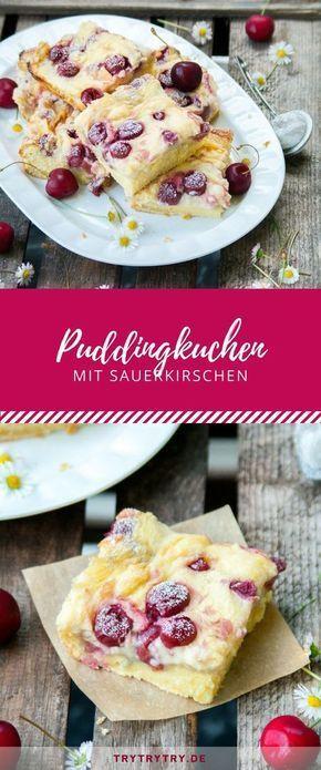 Der Puddingkuchen mit Sauerkirschen ist der perfekte Sommerkuchen. Du kannst ihn mit frischen Kirschen oder Kirschen aus dem Glas zubereiten. Ein tolles Rezept für Sommerfeiern oder Geburtstage!