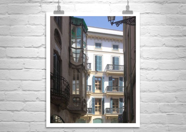 Window Art, Majorca, Spanish Architecture, Palma, Spain, Architecture Art, Travel Photography, Mallorca, Mediterranean Sea, Fine Art Print by MurrayBolesta on Etsy