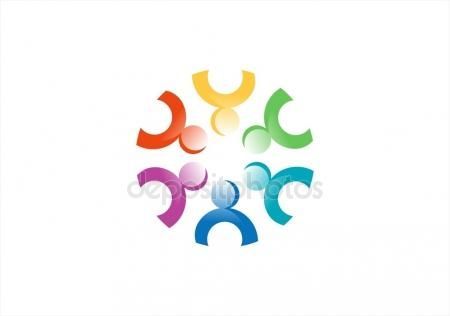 #Team #work #logo #teamwork #Social #Network #union #teams #symbol #design #illustration #icon #group #connection #bright #rainbow #colors #logotype #vector - https://depositphotos.com/portfolio-3904401.html?ref=3904401