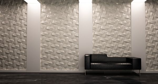 The Pattern ceramic tiles by David Pergier give the walls