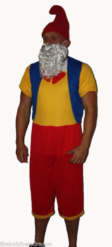 Funny Garden Gnome Christmas Fancy Dress Costume