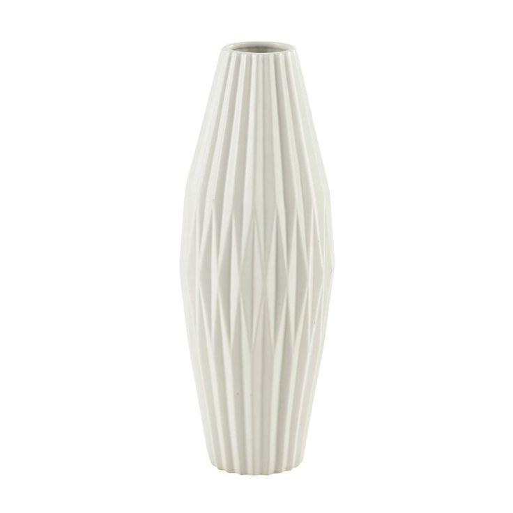 Keramikvase EMMA, H 48cm, weiß