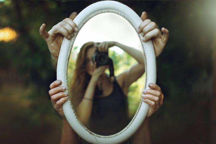 fairy photography portrait in mirror