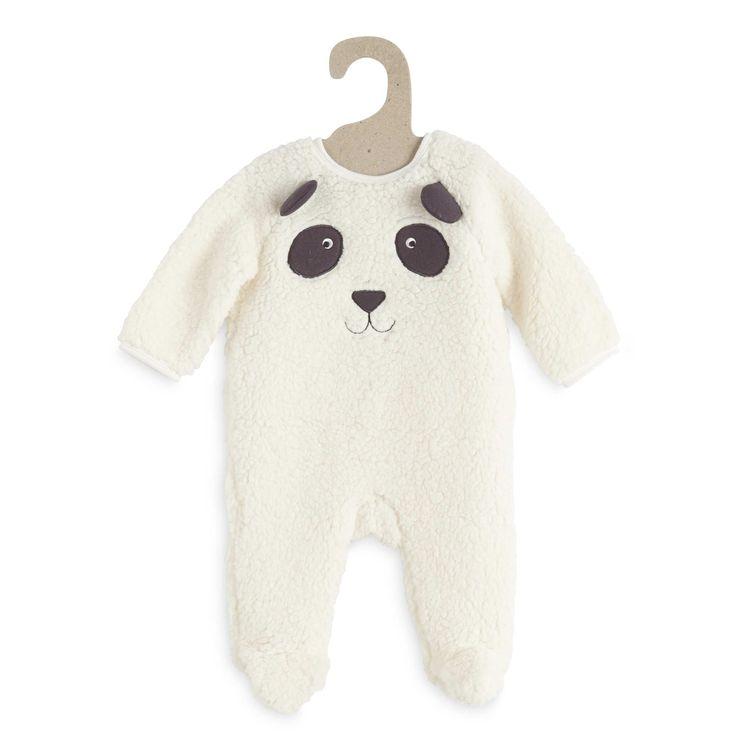 Surpyjama sherpa tête de panda                                                                                         blanc Bébé garçon