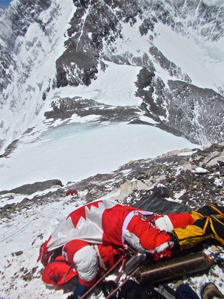 The body of shriya shah klorfine on mt everest 300m below the summit