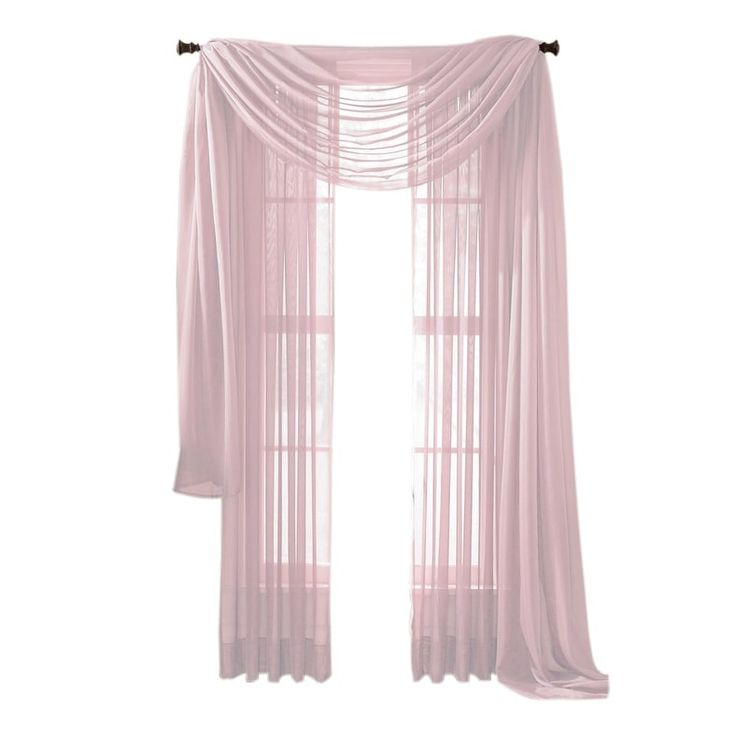 Moshells 84 Sheer Curtain Panel   Neon Pink, Size 84 Inches