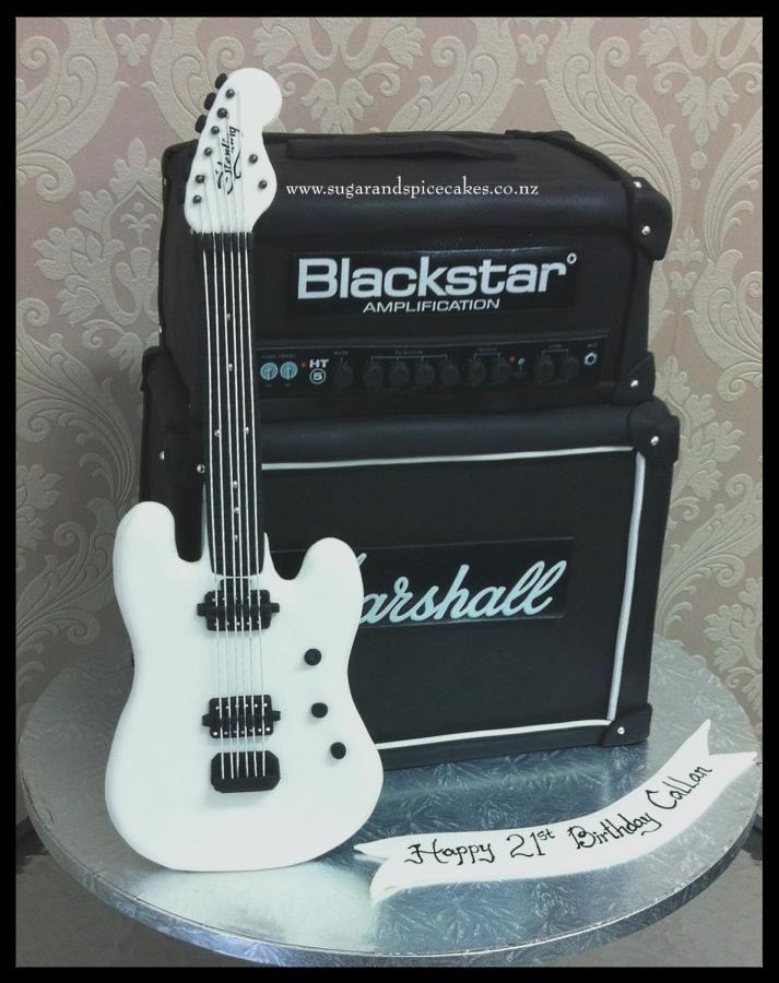 Guitar and Amp Cake - http://cakesdecor.com/cakes/252520-guitar-and-amp-cake