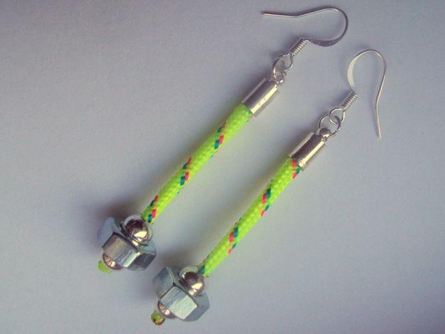 HEXNUT AND BALL  - earrings
