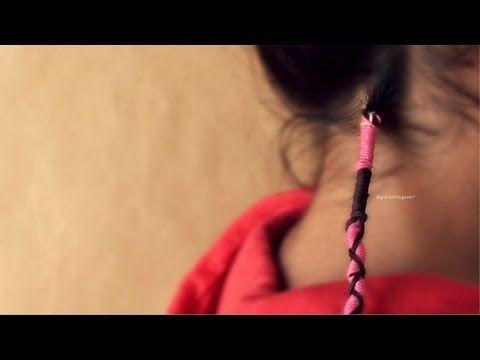 Como hacer una trenza de hilo Wrap // hippie - YouTube