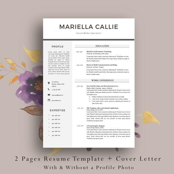 As 20 melhores imagens em Professional Resume Templates no - 2 page resume template
