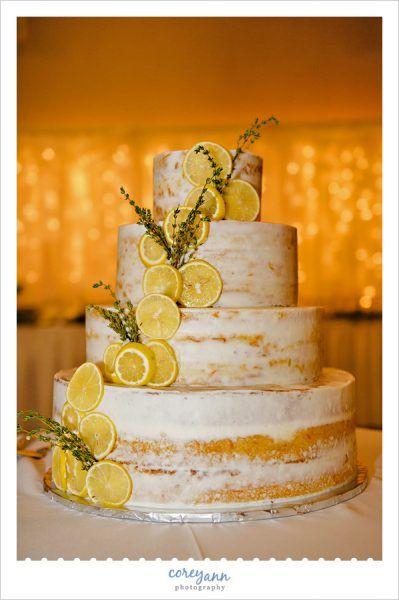 Nackte Zitrone Hochzeitstorte von Ann's Cakes   – Wedding Cakes