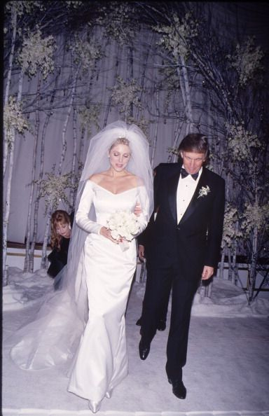 STATES The wedding of Marla Maples and entrepreneur Donald Trump New York City 20th December 1993