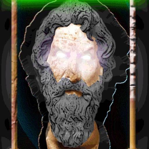 Antístenes, desde el Limbo, emite oráculos a los hombres en tierra. #adivinacion #antistenes #cinico #consejos #del #destino #fortuna #futurologia #limbo #oraculo #suerte #traves