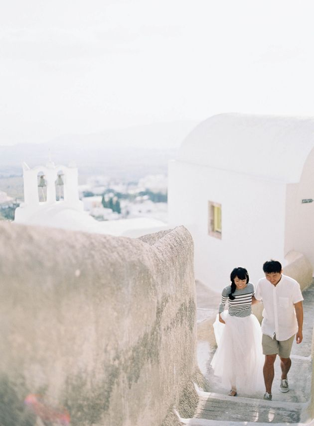 Post Wedding Photo session for our Chinese couple in Santorini by Stella & Moscha - Photo by Jen Huang