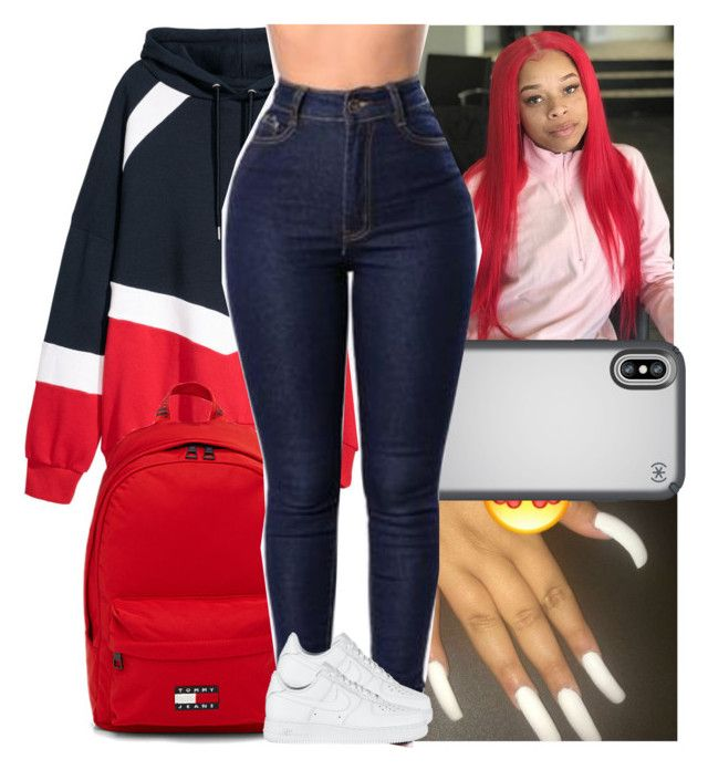 """🇵🇷"" by danny-baby ❤ liked on Polyvore featuring H&M, Speck, Tommy Hilfiger and NIKE"