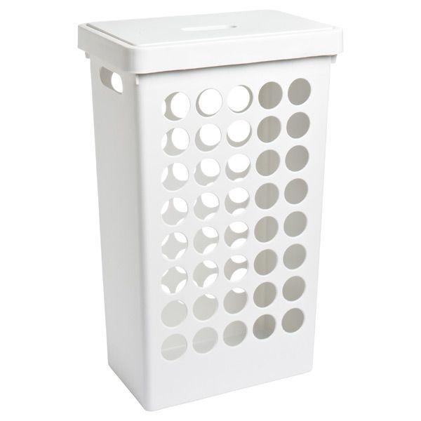 Rectangular Circles Hamper White Container Store Laundry