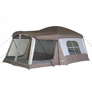 Coleman 8-Person Instant Tent (14'x10') 150D material made in USA Spacious 8-person, 2-room tent designed for quick assembly Poles come pre-attached to tent, ensuring setup in 1 minute or less Exclusive WeatherTec system with thick waterproof walls and welded floor 2 doors and 7 windows for full ventilation; removable divider between rooms Base measures 14 by 10 feet; center height of 6 feet 5 inches; 1-year warrantyPrice: $209.99