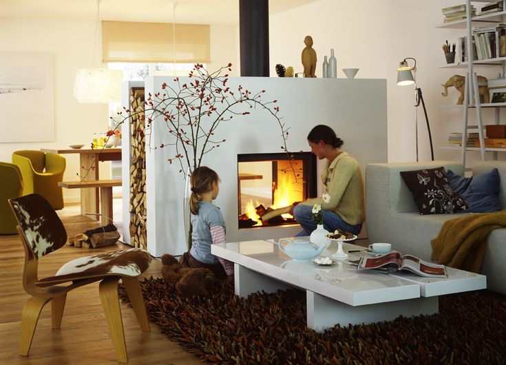 Stûv 21 double-face modern fireplace
