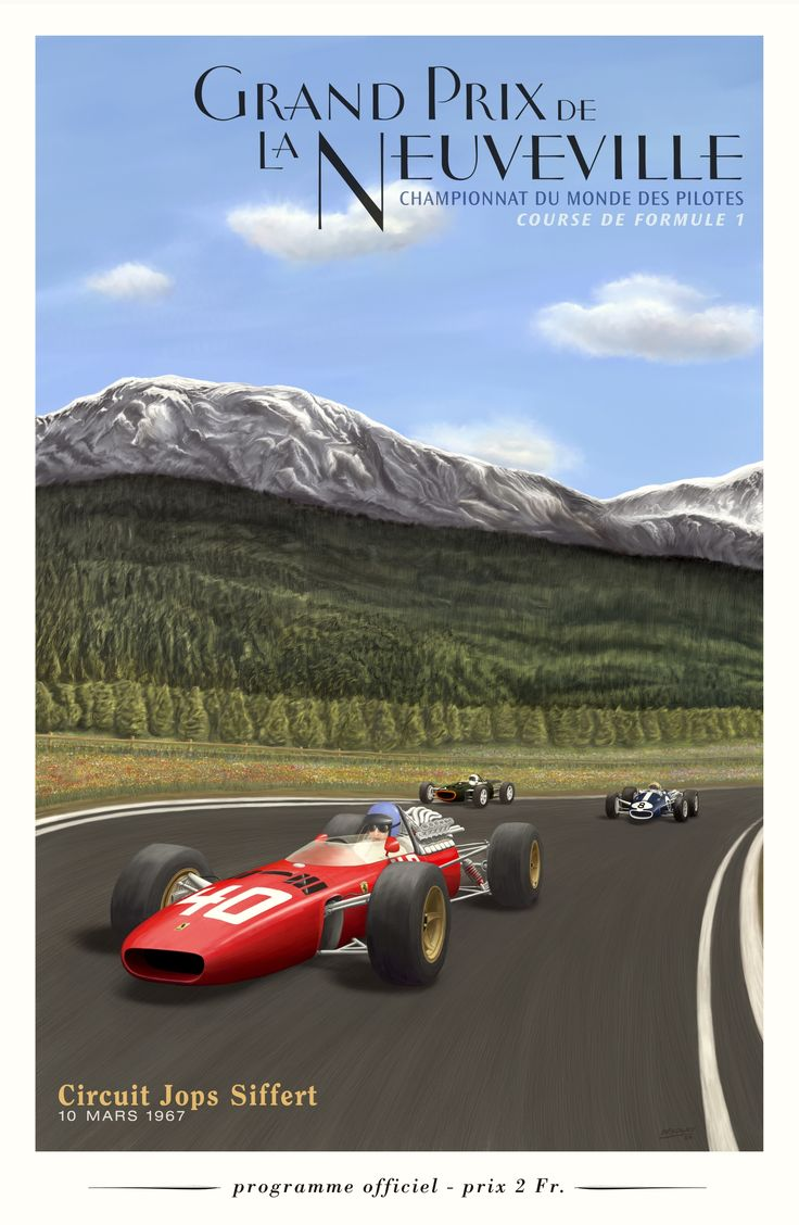 Poster for a 1967 race that never happened on a circuit that doesn't exist!  The SIMS are alive and well on Pinterest, and have produced  this lovely fantasy poster for a scenic fantasy F1 race that doesn't exist.  The Swiss government declared circuit motor racing to be an unsafe sport in 1955 and banned all motor racing after the 1955 Le Mans disaster in France which killed more than 80 people.  The ban has never been lifted. #F1 #SwissGP #FormulaFantasy #machinima