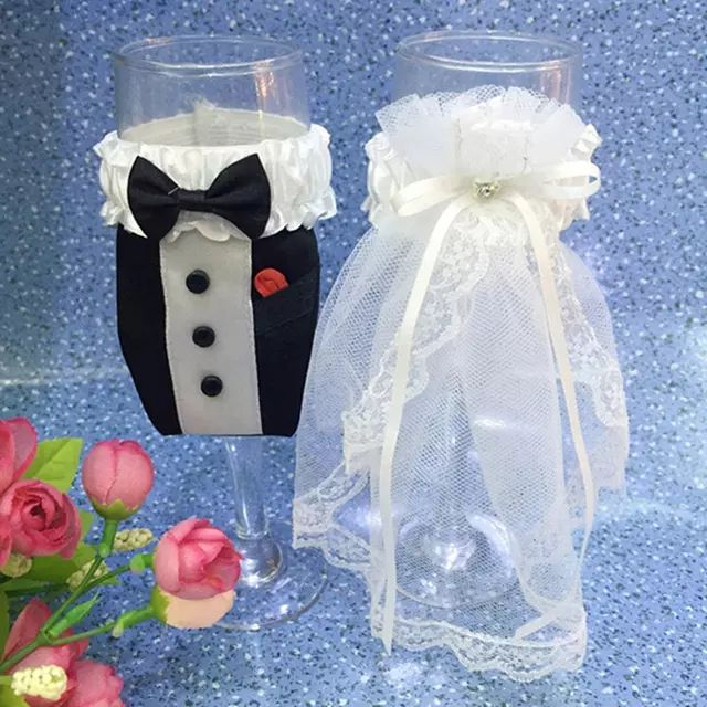 Wholesale cheap  online, material - Find best wholesale- 6sets/lot handmade fashion wine glass bride and groom covers with rhinestone wedding party cup decoration at discount prices from Chinese wine glasses supplier - copy03 on DHgate.com.