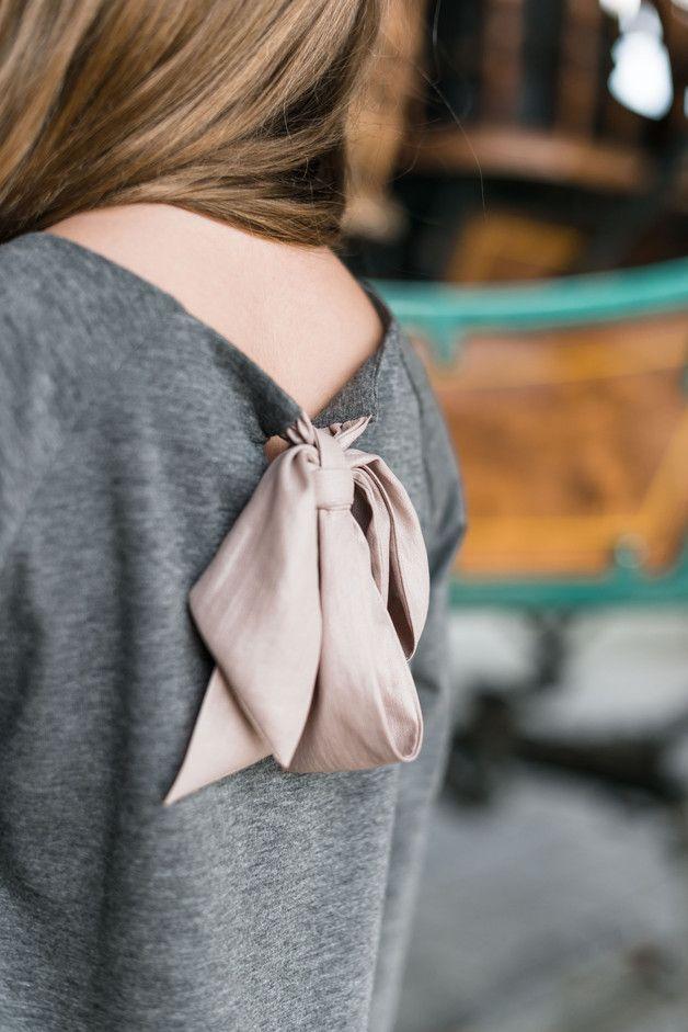 NADINE sukienka dwukolorowa szaro-różowa - aQademia - Sukienki dla dziewczynek
