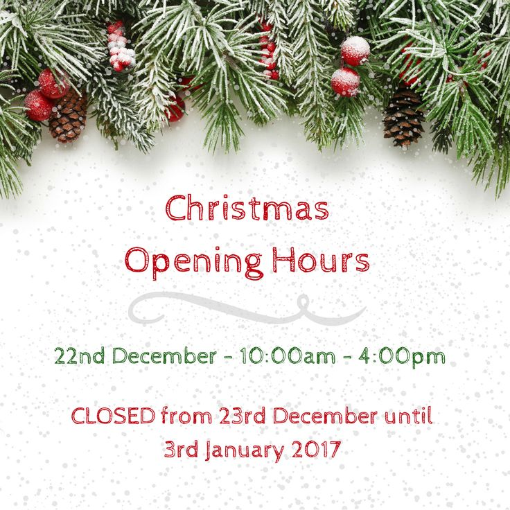 Here's our #Christmas opening hours for our shop! It's a long time to be without #fabric, so make sure you visit the shop to stock up 🎄