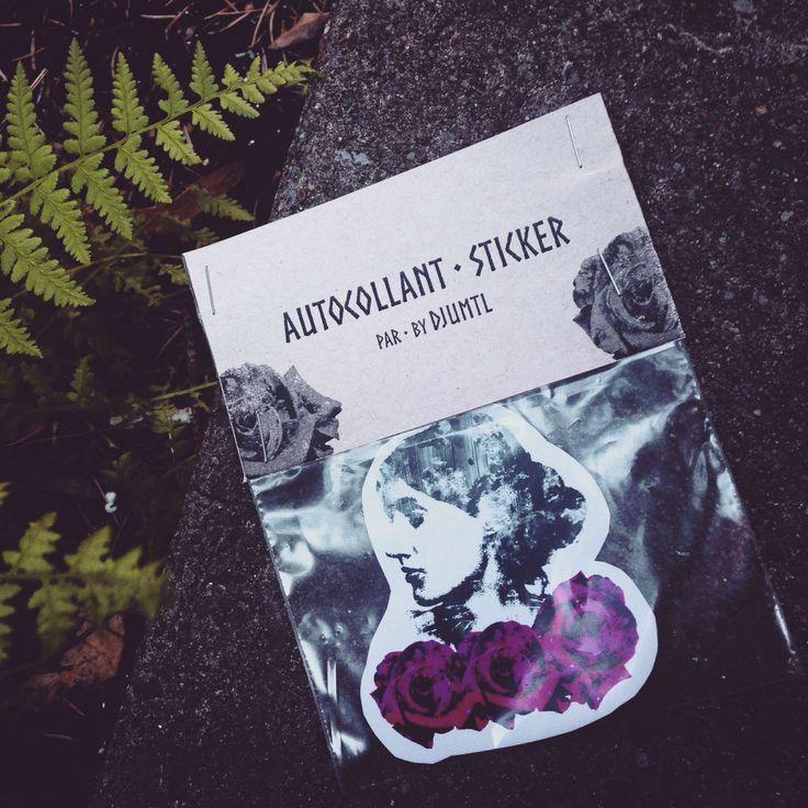 Le chouchou de ma boutique https://www.etsy.com/ca-fr/listing/460757266/sticker-autocollant-virginia-woolf-roses