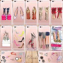 Magníficos Zapatos de Tacón Alto de Silicona Teléfono Casos de La Cubierta Para el iphone 6 6 s 5 se 7 7 PlusTransparent 5S Teléfono Celular Claro caso(China (Mainland))