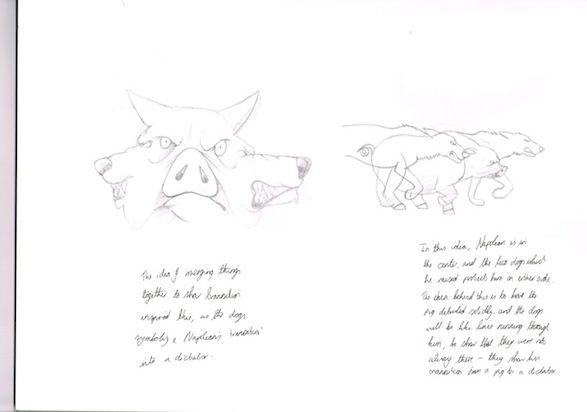 Sketchbook scan - initial concepts.