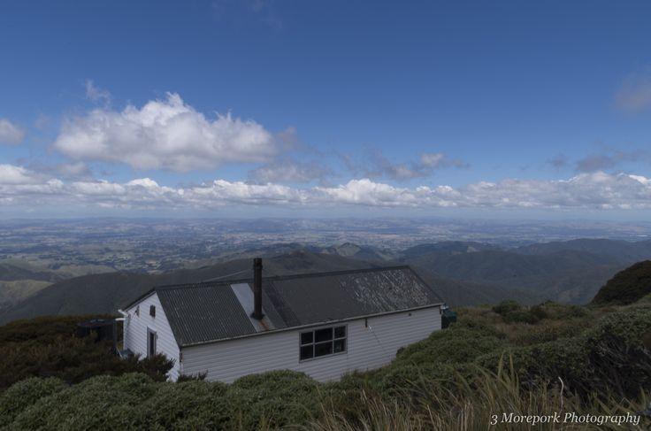 Jumbo hut. overlooking Masterton and the Wairarapa valley, New Zealand