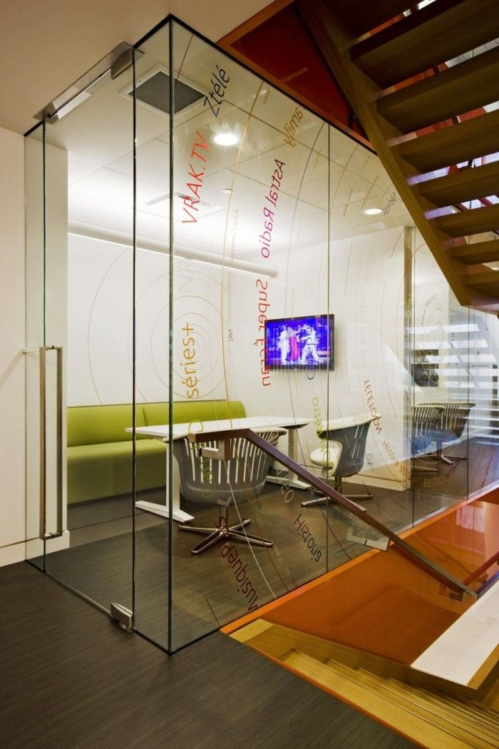 Beautiful office interiors of a canadian media company office interior designoffice