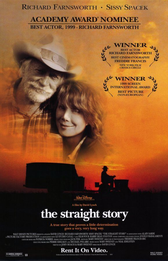 The Straight Story Movie Poster 27x40 Used Everett McGill, Richard Farnsworth, Barbara E Robertson, John Lordan, Jack Walsh, John Farley, Dan Flannery, Kevin P Farley, Harry Dean Stanton, Sally Wingert, Lana Schwab, Sissy Spacek, James Cada, Wiley Harker