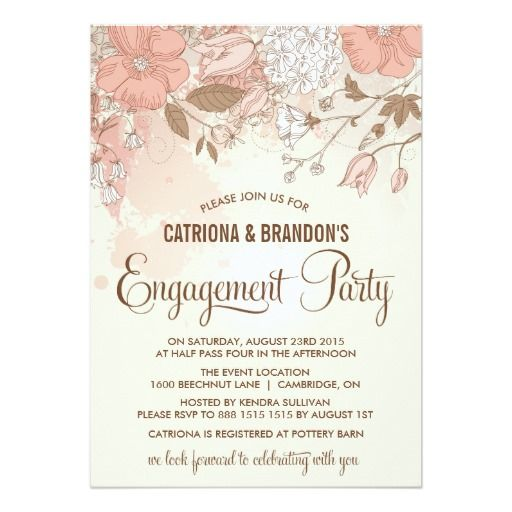 The 25+ best Engagement invitation online ideas on Pinterest - free engagement party invites