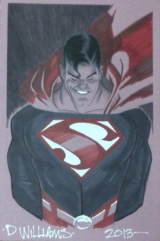Superman by Dave Williams  ---  I really like the cant to the 'S'.