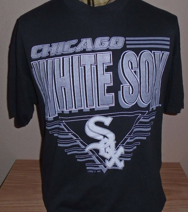 FREE Shipping vintage 1990s Chicago White Sox baseball t shirt XL 50/50 by vintagerhino247 on Etsy