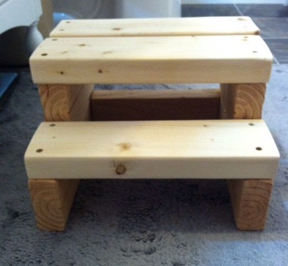 Wood Step Stool 8 5 Quot Tall Wood Steps Stools And Kids