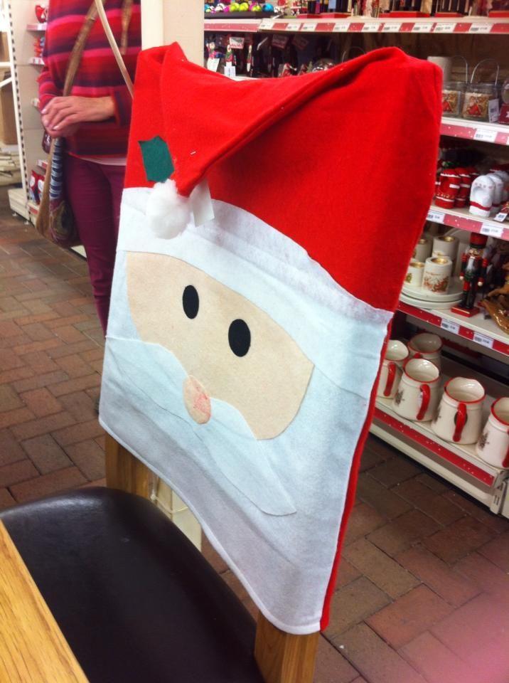 Christmas Chair Cover .....fab idea!