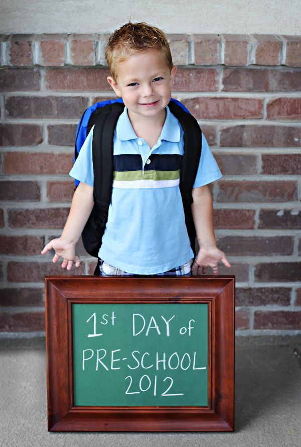 First Day of School photo idea